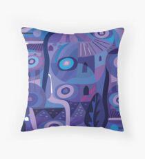 Blue Pozole Throw Pillow