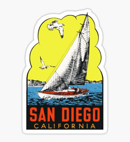 San Diego California Vintage Travel Decal Sticker