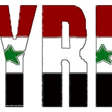 Syria Font With Syrian Flag by Havocgirl