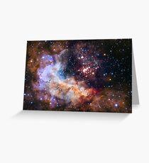 Deep Space Nebula Galaxy Greeting Card