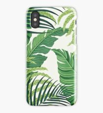 Green tropical leaves iPhone Case/Skin