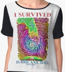 I survived Hurricane Irma  Women's Chiffon Top
