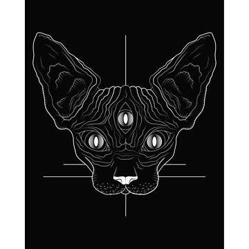 Sphinx Kat Inverse B/W by BECKCR