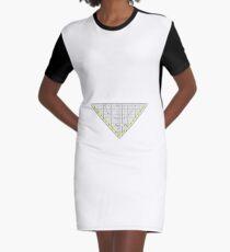 Ruler Graphic T-Shirt Dress