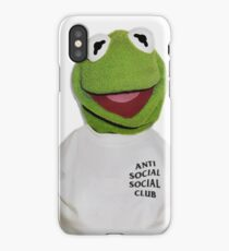 Kermit Supreme Anti Social Social Club iPhone Case/Skin