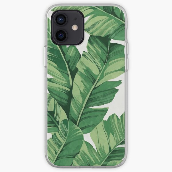 Tropical banana leaves iPhone Soft Case