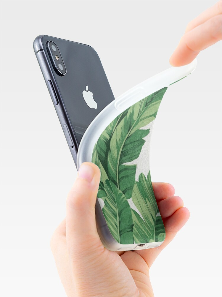 Alternate view of Tropical banana leaves iPhone Case & Cover