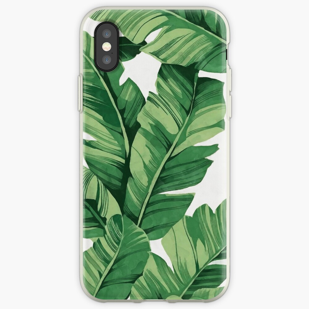 Tropical banana leaves iPhone Case & Cover