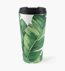Tropical banana leaves Thermobecher