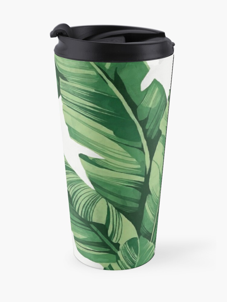 Alternate view of Tropical banana leaves Travel Mug