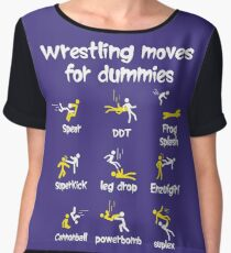 wrestling moves for dummies Chiffon Top