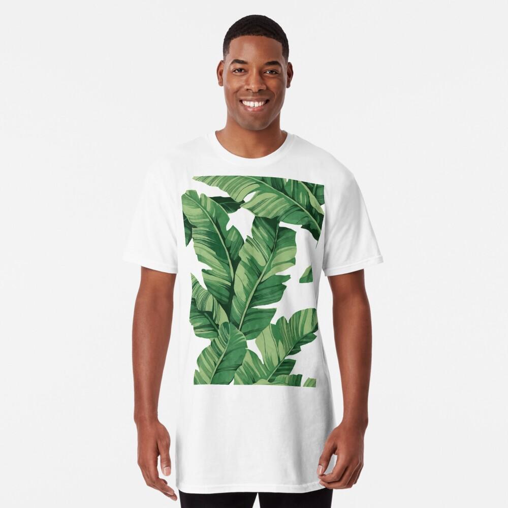 Tropical banana leaves Long T-Shirt