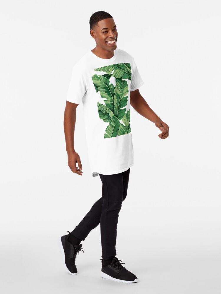 Alternate view of Tropical banana leaves Long T-Shirt