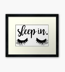 Sleep In Eyelash Print Framed Print