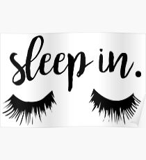 Póster Sleep In Eyelash Print