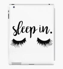 Sleep In Eyelash Print iPad Case/Skin