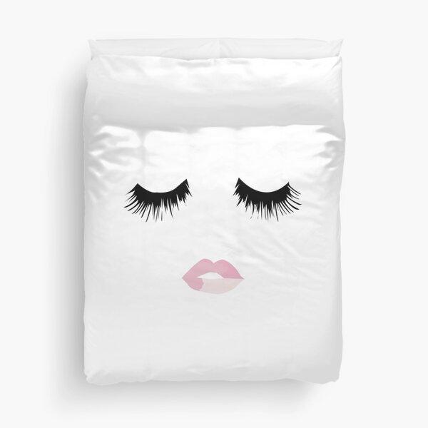 Eyelash Lip Print  Duvet Cover