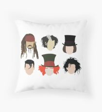 Johnny Depp - Famous Characters Throw Pillow
