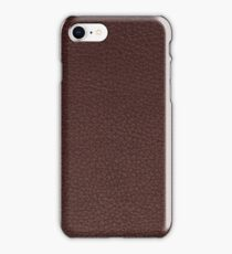Purple leather texture closeup iPhone Case/Skin