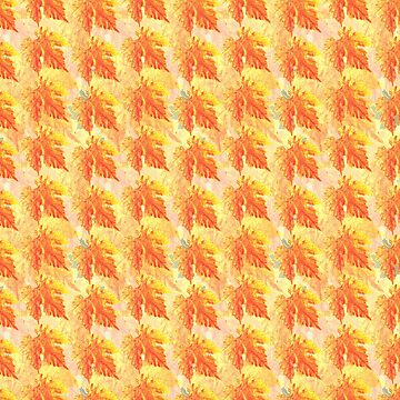 Yellow Autumn Leaves pattern by Pacoredbubble