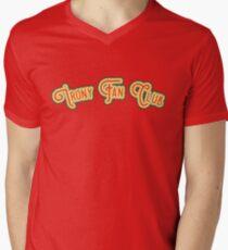Irony Fan Club - Red & Daffodil Yellow Version Men's V-Neck T-Shirt