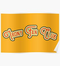 Irony Fan Club - Red & Daffodil Yellow Version Poster