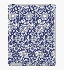 William Morris Carnations | Navy Blue and White Floral Pattern iPad Case/Skin