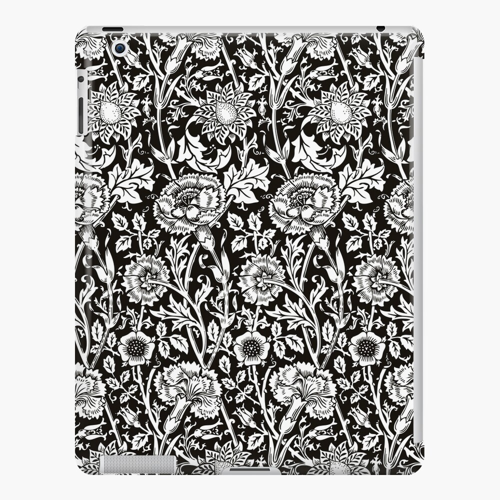 William Morris Carnations | Black and White Floral Pattern | Flower Patterns | Vintage Patterns | Classic Patterns | iPad Snap Case