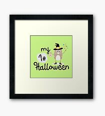 My First Halloween Cat witch Rb8x4 Framed Print