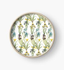 Vintage Floral Pattern | No. 2B | Irises Clock