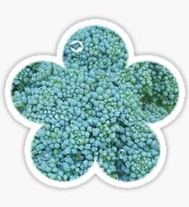 Green Broccoli Florets Sticker