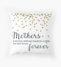 Mothers hold their Children's Hands Throw Pillow