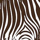 Zebra Stripes   Zebra Print   Animal Print   Chocolate Brown and White   Stripe Patterns   Striped Patterns   by EclecticAtHeART