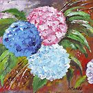 Hydrangeas in Acrylic by Maree Clarkson