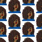 Curlyhair Curly Girl Brown Skin Reddish Natural Hair Queen by EllenDaisyShop