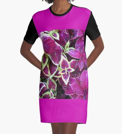 Herbst Coleus T-Shirt Kleid