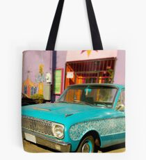 Old Blue Ford Tote Bag