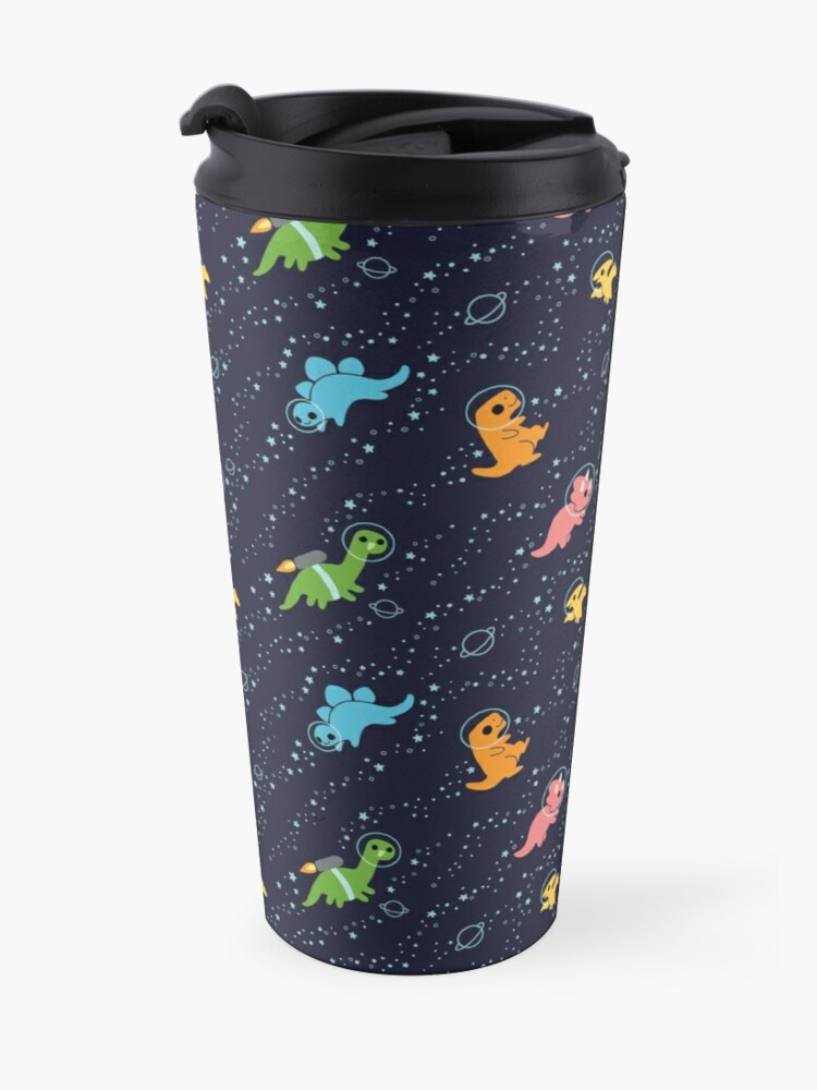 Alternate view of Dinosaurs In Space Travel Mug