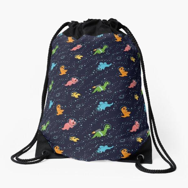 Dinosaurs In Space Drawstring Bag