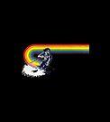 Suede Vintage Ski Rainbow by hilda74