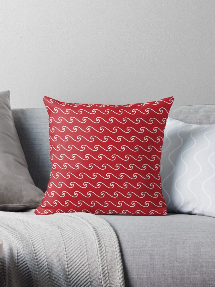 Wave Pattern | Red and White by EclecticAtHeART