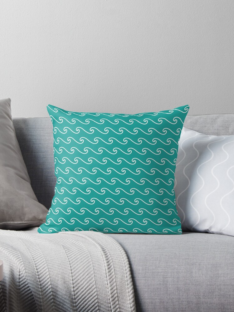 Wave Pattern | Teal and White by EclecticAtHeART
