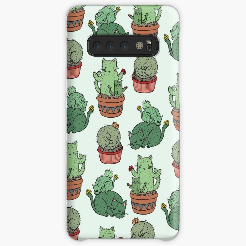 Kaktus Katzen Hüllen & Klebefolien für Samsung Galaxy