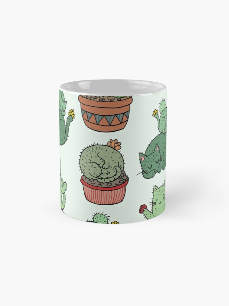 Alternate view of Cactus Cats Mug