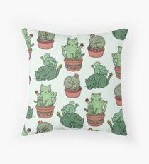 Cactus Cats Throw Pillow