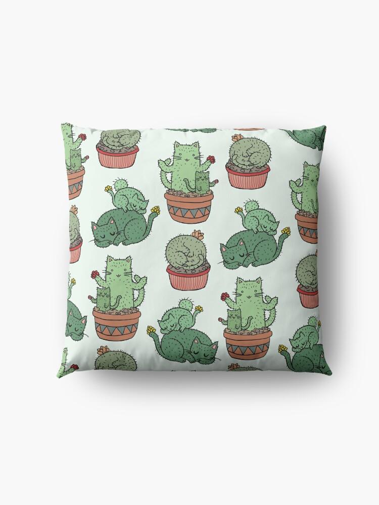 Alternate view of Cactus Cats Floor Pillow