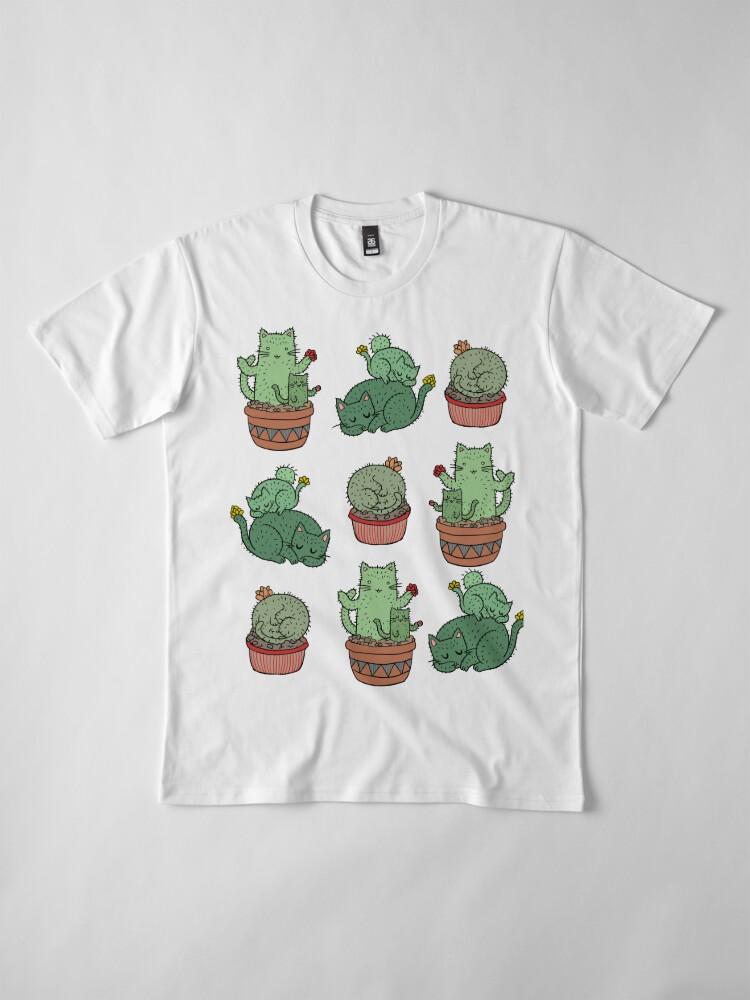 Alternate view of Cactus Cats Premium T-Shirt