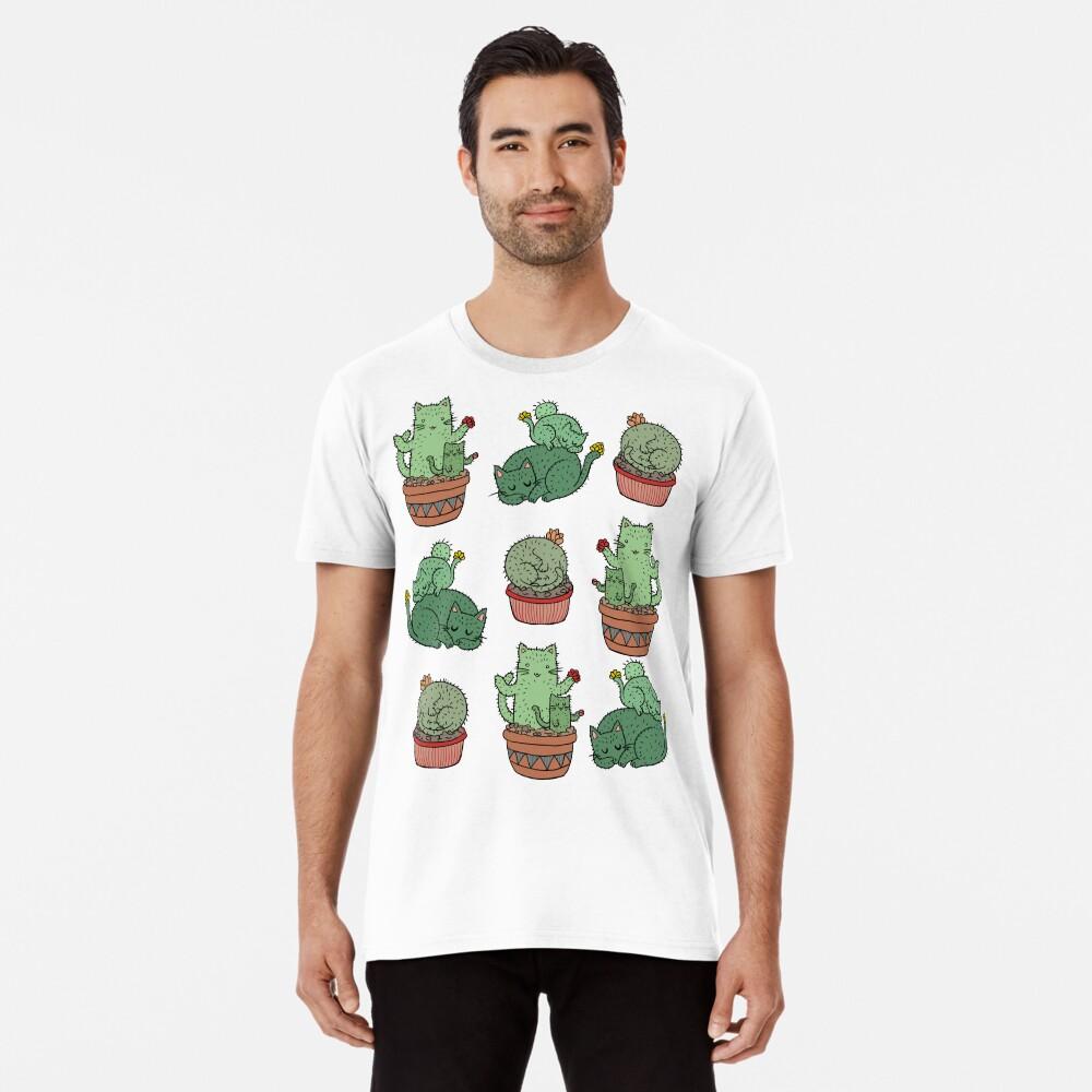 Cactus Cats Premium T-Shirt