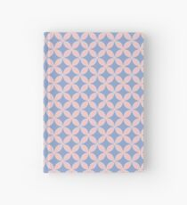 Abstract Frangipani Flower Pattern | Rose Quartz and Serenity | Pantone Colors of the Year 2016 Hardcover Journal