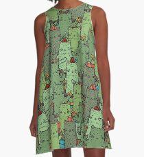 Catcus-Garten A-Linien Kleid